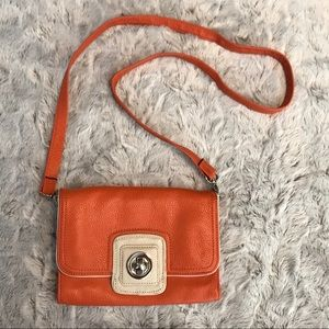 Grace Adele Leather Clutch with Cross Body Strap